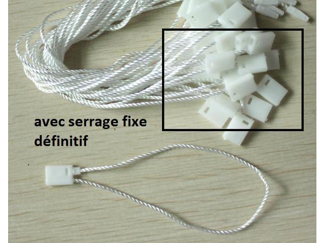 Attache cordon à serrage fixe rouge pour étiquette à fil pour étiquette de prix