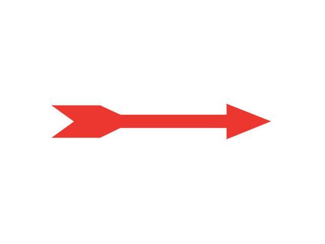 25 fl ches directionnelles droites rouges contact signals. Black Bedroom Furniture Sets. Home Design Ideas