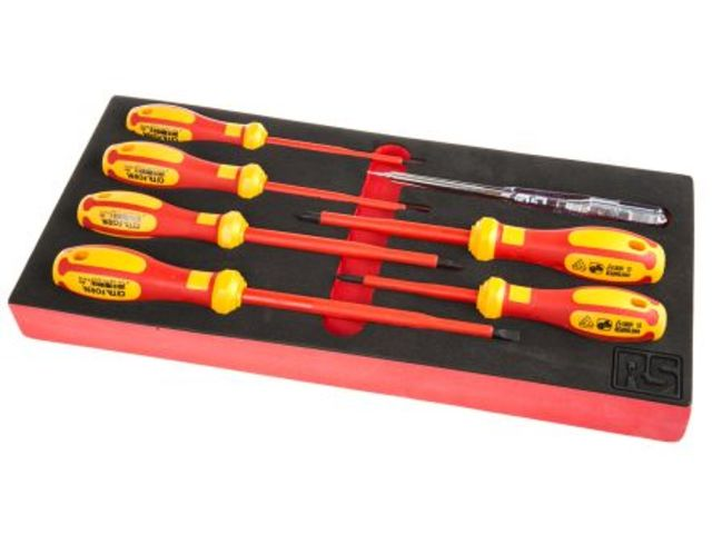 7pc Insulated Slotted/ph Screwdriver Set