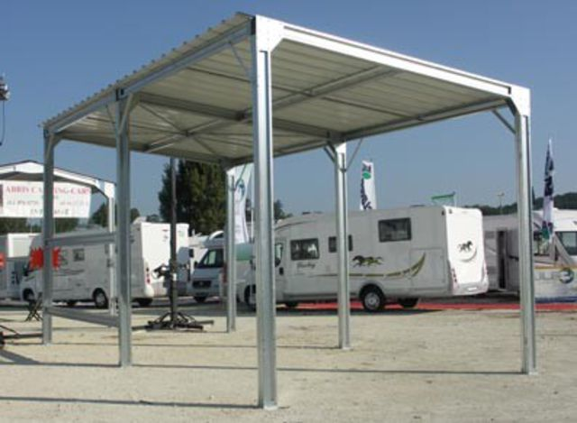 Abri camping car metal contact france abris for Abri auto double costco