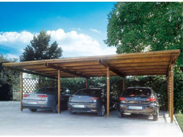 Abri voiture bois individuel triple id493 contact for Abri voiture bois