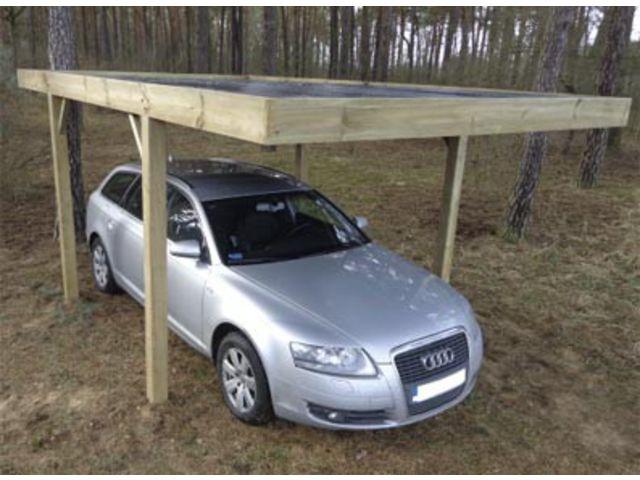 abri voiture en bois id2241 contact france abris. Black Bedroom Furniture Sets. Home Design Ideas
