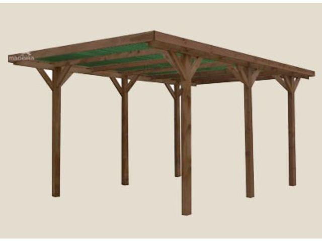 abri voiture toit plat bois autoclave id284 contact. Black Bedroom Furniture Sets. Home Design Ideas