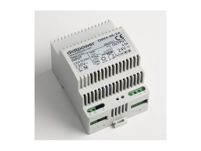 Alimentation AC-DC Rail DIN domotique tension de sortie 24 VDC courant 4 A 96 W_DIDTPOWER