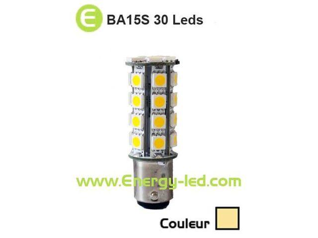 Ba15s 5050 Ampoule Chaud Smd 12v24v 360° 30 Leds Blanc uJlKFT1c3
