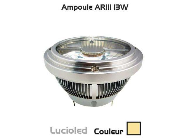Ampoule ar111 7 leds 15w blanc chaud 12v contact led flash for Correspondance ampoules anciennes et nouvelles
