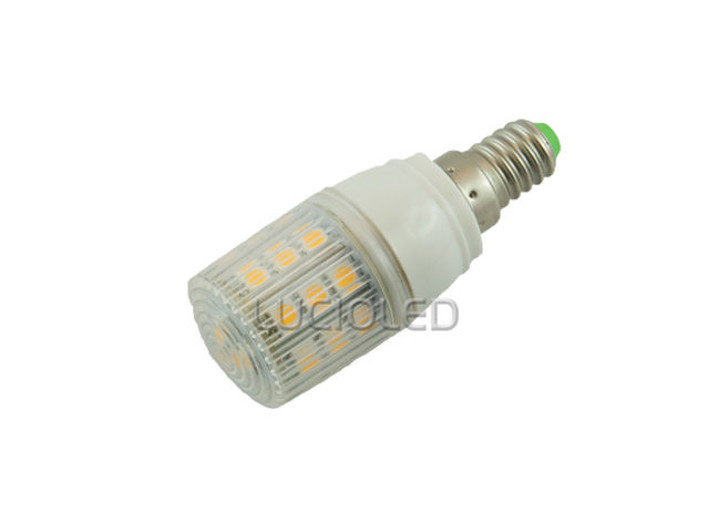Ampoule E14 360° 12V/24V 24 leds SMD 5050 protégées Blanc chaud - LED-FLASH