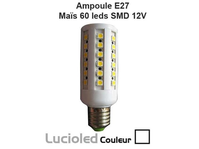 ampoule led vis e27 24v ma s 60 leds lumi re du jour contact led flash. Black Bedroom Furniture Sets. Home Design Ideas