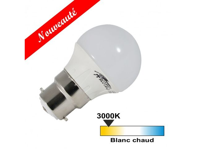 Ampoule led B22 4 watt (eq. 30 watt) - Couleur eclairage - Blanc chaud 3000°K