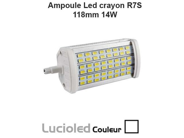 ampoule led crayon r7s 118mm 48 smd variable 14w lumi re du jour contact led flash. Black Bedroom Furniture Sets. Home Design Ideas