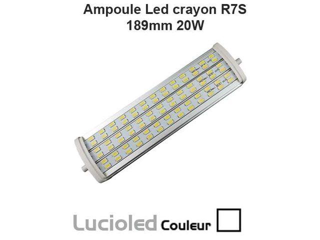 ampoule led crayon r7s 189mm 78 smd 5630 20w lumi re du. Black Bedroom Furniture Sets. Home Design Ideas
