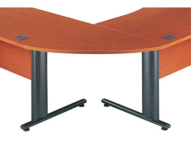 angle de liaison arrondi 90 merisier contact setam rayonnage et mobilier professionnel. Black Bedroom Furniture Sets. Home Design Ideas