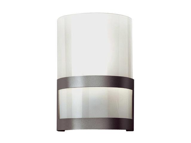 Applique e w aluminium verre depolie v contact sbf eclairage