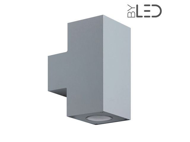 Applique led murale extérieure up down 6w gris u2013 agora contact