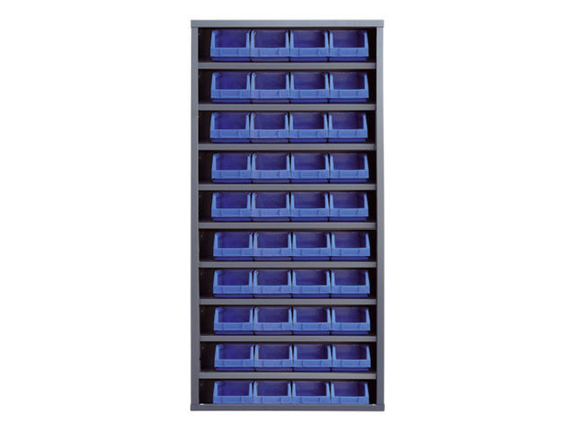 armoire bacs sans porte en plastique 40 bacs contact maxiburo. Black Bedroom Furniture Sets. Home Design Ideas