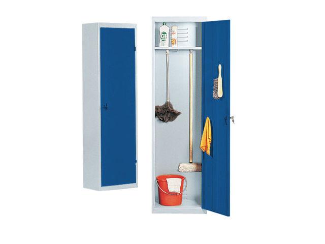 armoire balai 180 x 50 cm gris bleu contact maxiburo. Black Bedroom Furniture Sets. Home Design Ideas