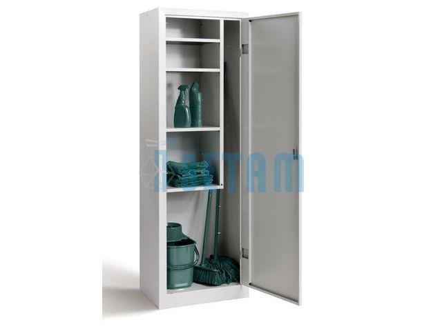 armoire balais et stockage produits d 39 entretien contact setam rayonnage et mobilier. Black Bedroom Furniture Sets. Home Design Ideas