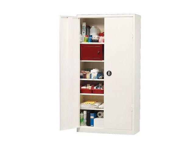 armoire pharmacie grande capacit 1 porte contact manutan. Black Bedroom Furniture Sets. Home Design Ideas