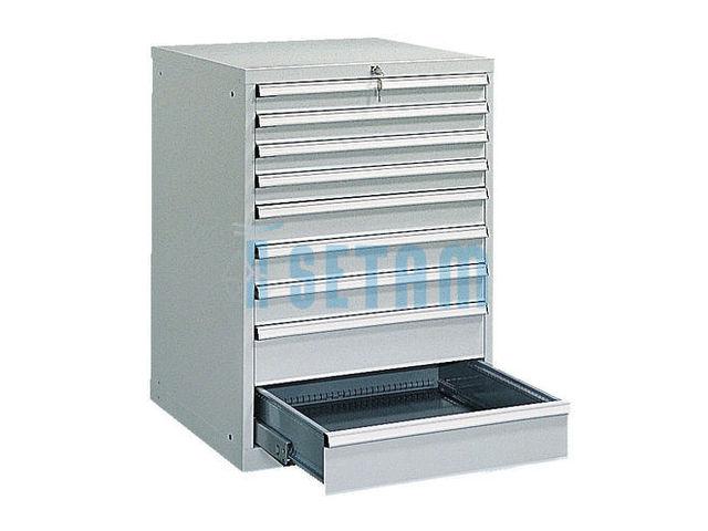 armoire tiroir industriel mod le 9 tiroirs contact setam rayonnage et mobilier professionnel. Black Bedroom Furniture Sets. Home Design Ideas