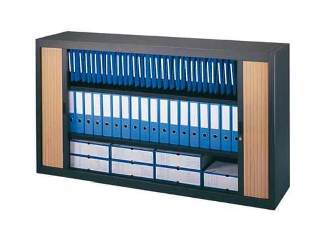 Armoire basse à rideaux démontables décor bois Largeurs spécifiques ...