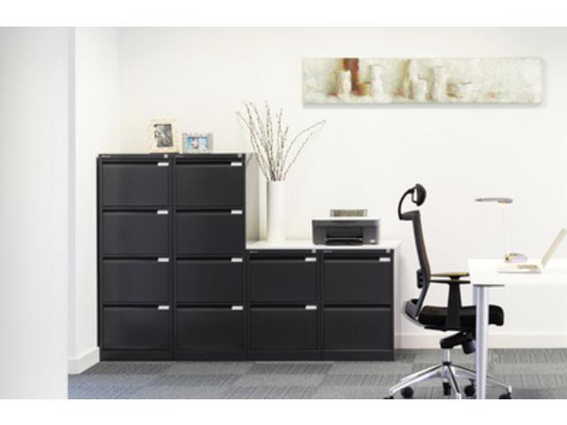 armoire basse pour dossiers suspendus 2 rails 2 tiroirs. Black Bedroom Furniture Sets. Home Design Ideas