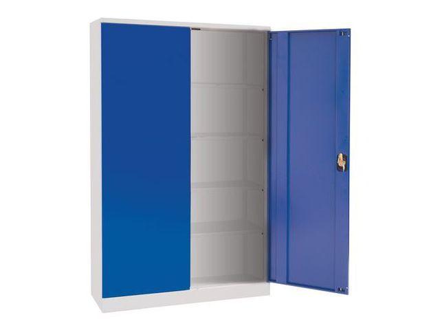 armoire d 39 atelier en kit hauteur 195 cm manutan contact manutan. Black Bedroom Furniture Sets. Home Design Ideas