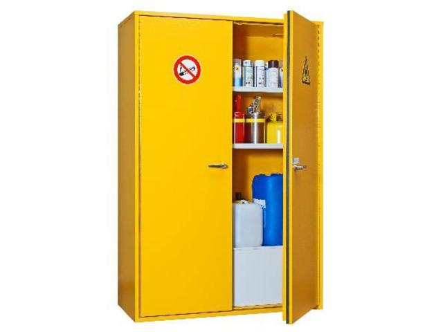 armoire de s curit pour produits inflammables double. Black Bedroom Furniture Sets. Home Design Ideas