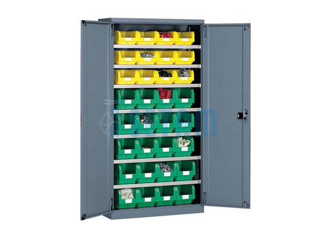 armoire grande capacit avec 32 bacs plastiques contact. Black Bedroom Furniture Sets. Home Design Ideas
