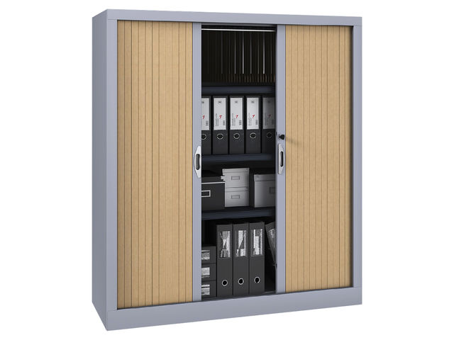 armoire m tal classique hauteur 135 cm rideaux pvc contact manutan collectivites. Black Bedroom Furniture Sets. Home Design Ideas