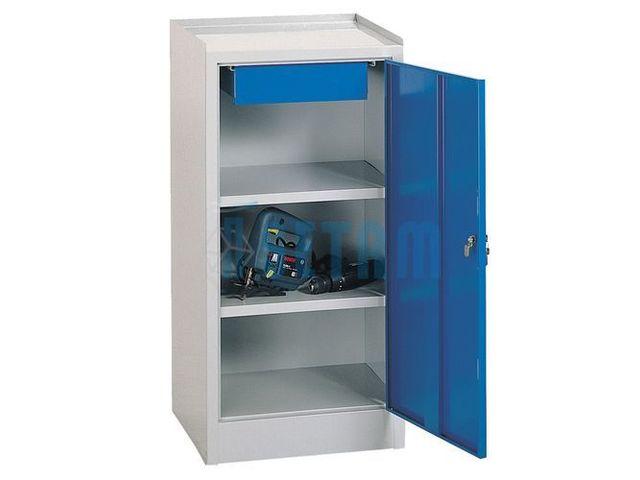 armoire m tallique atelier avec 2 niveaux et tiroir contact setam rayonnage et mobilier. Black Bedroom Furniture Sets. Home Design Ideas