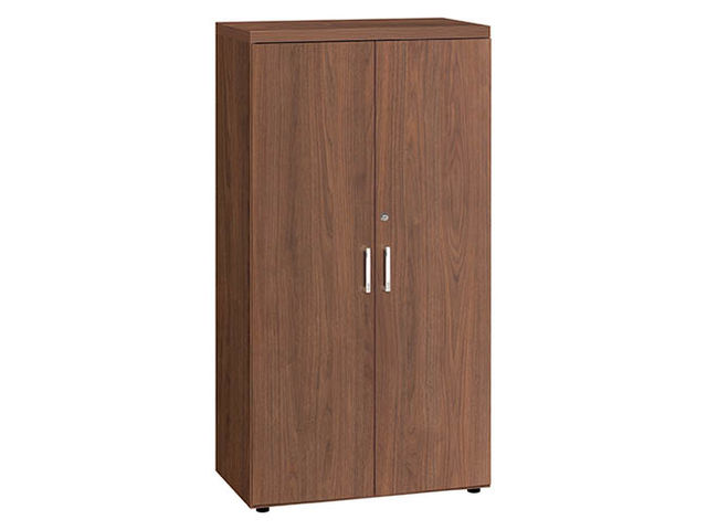 armoire mi hauteur noyer h 151 x l 80 cm milano contact maxiburo. Black Bedroom Furniture Sets. Home Design Ideas