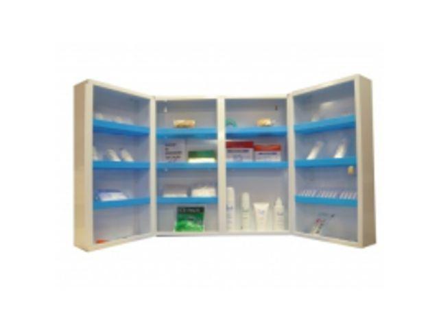 armoire pharmacie m tallique pleine 2 portes avec serrure contact btp group achatmat. Black Bedroom Furniture Sets. Home Design Ideas