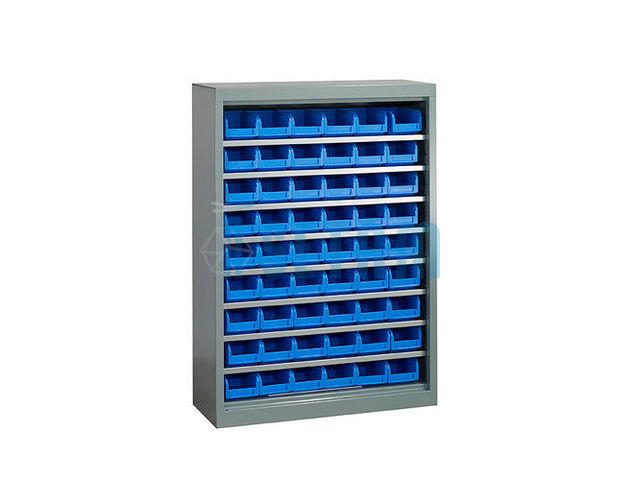 armoire porte bacs basse sans porte 54 bacs plastique 1. Black Bedroom Furniture Sets. Home Design Ideas