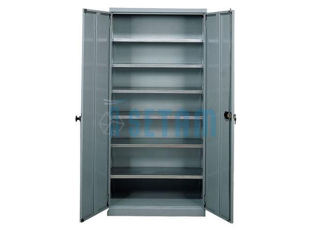 armoire porte bacs haute vide avec portes 6 tablettes. Black Bedroom Furniture Sets. Home Design Ideas
