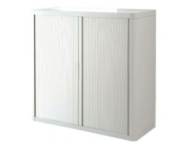 armoire rideau 2 tablettes blanc blanc contact mon bureau et moi. Black Bedroom Furniture Sets. Home Design Ideas