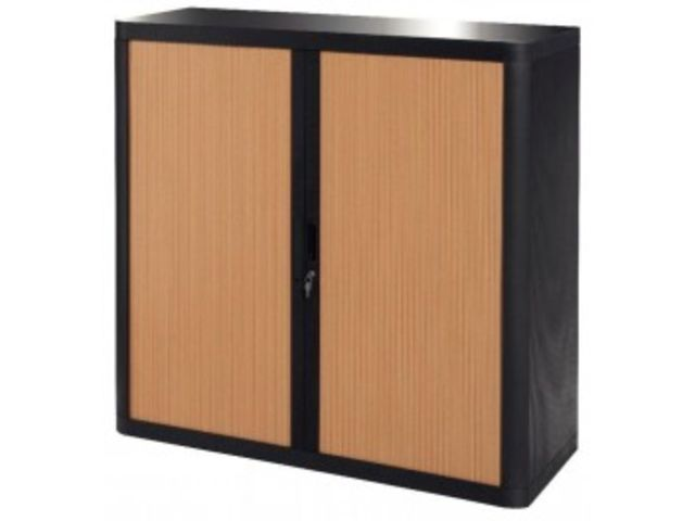 armoire rideau 2 tablettes noir h tre contact mon bureau et moi. Black Bedroom Furniture Sets. Home Design Ideas