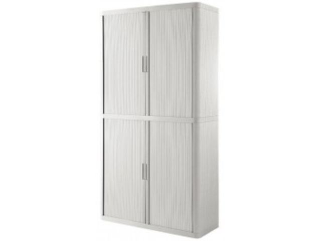 armoire rideau 4 tablettes blanc blanc contact mon bureau et moi. Black Bedroom Furniture Sets. Home Design Ideas