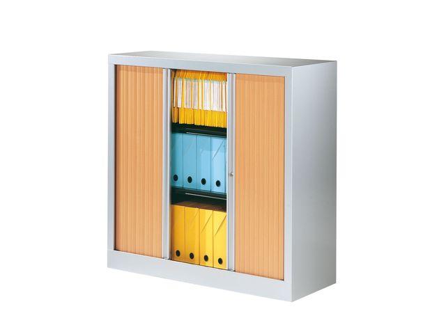 Armoire rideaux hêtre corps coloris aluminium Basse Longueur 1 ...