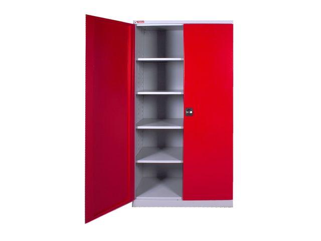 armoire universelle avec 4 étagères réglables mw-tools dek11058