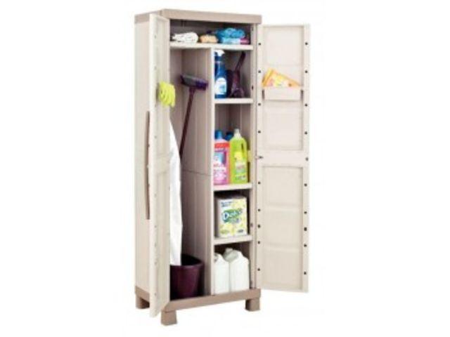 armoire utilitaire haute 2 portes gris taupe contact mon bureau et moi. Black Bedroom Furniture Sets. Home Design Ideas