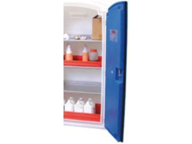 armoires de s curit poly thyl ne avec tag re en inox pour produits corrosifs contact mt. Black Bedroom Furniture Sets. Home Design Ideas