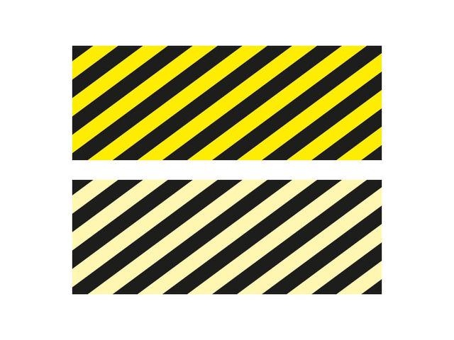 autocollant marquage au sol bandes jaune noir contact signals. Black Bedroom Furniture Sets. Home Design Ideas