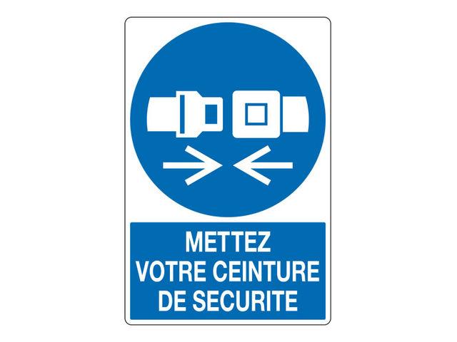 Autocollant port de la ceinture obligatoire par 25 contact signals - Port de la ceinture obligatoire ...