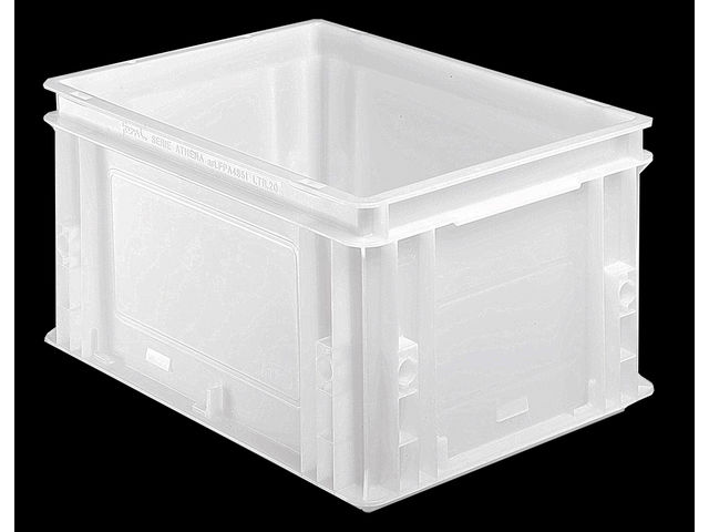 bac alimentaire plastique blanc 20 litres contact setam rayonnage et mobilier professionnel. Black Bedroom Furniture Sets. Home Design Ideas