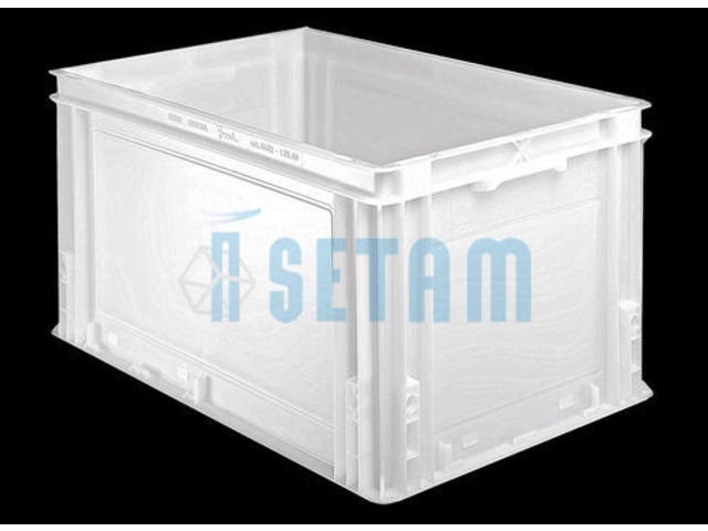 bac alimentaire plastique volume 60 litres 600x400 contact setam rayonnage et mobilier. Black Bedroom Furniture Sets. Home Design Ideas
