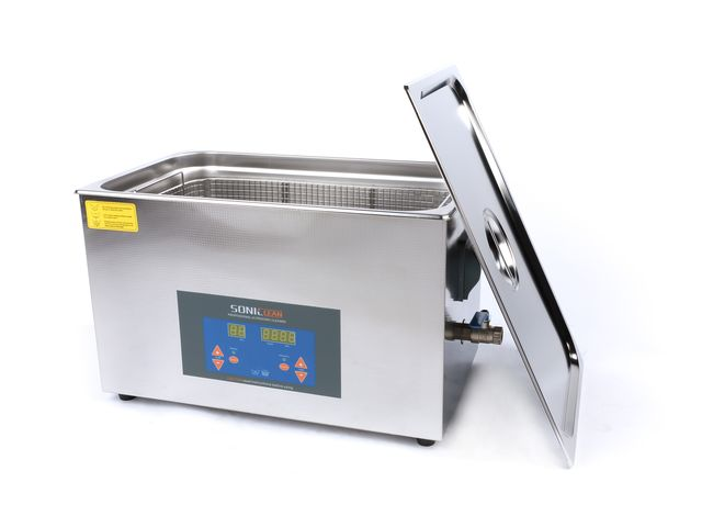 bac de nettoyage ultrasons de table avec affichage digital 10 litres contact ac graciotti. Black Bedroom Furniture Sets. Home Design Ideas