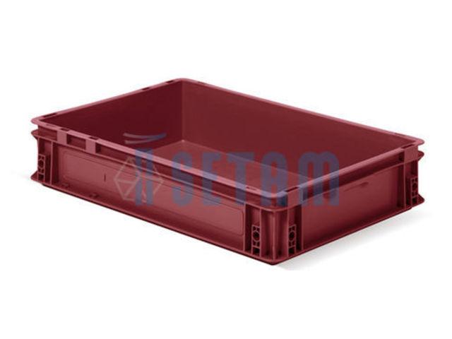 Bac plastique pour stockage 20 litres 60x40 rouge for Bac plastique poisson rouge