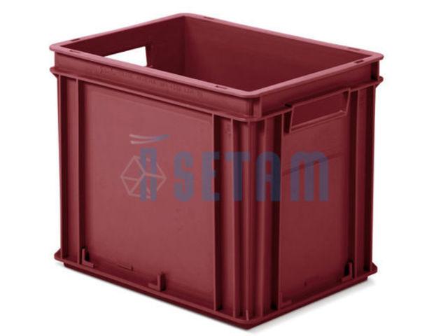 bac plastique rouge 30 litres avec poign es pour. Black Bedroom Furniture Sets. Home Design Ideas