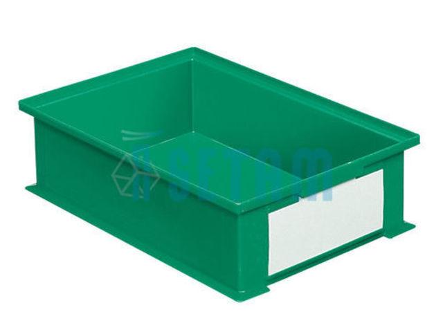 bac rangement plastique 16 2 litres vert contact setam. Black Bedroom Furniture Sets. Home Design Ideas