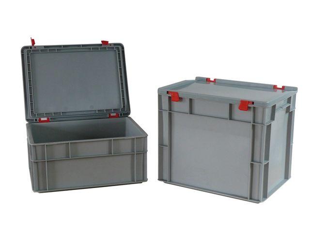 Bacs Plastiques Norme Euro, 400 X 300 Mm, Avec Couvercle | Contact